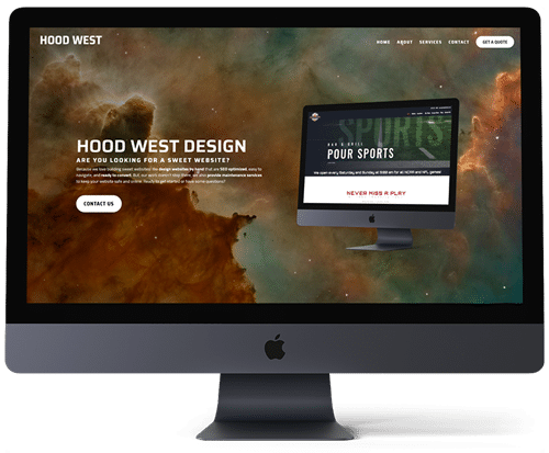 Data-driven homepage web design to encourage users to keep scrolling at Hood West Design